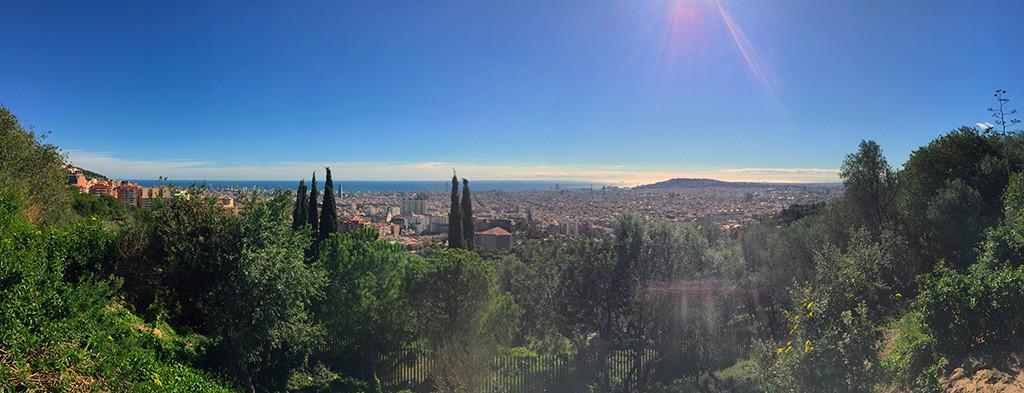 Barcelone depuis les hauteurs du Parc Güell