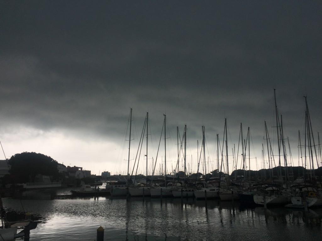 Jour de pluie à Port-Camargue