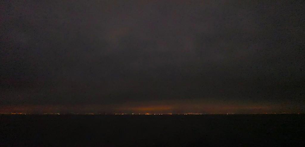 La côte espagnole de nuit
