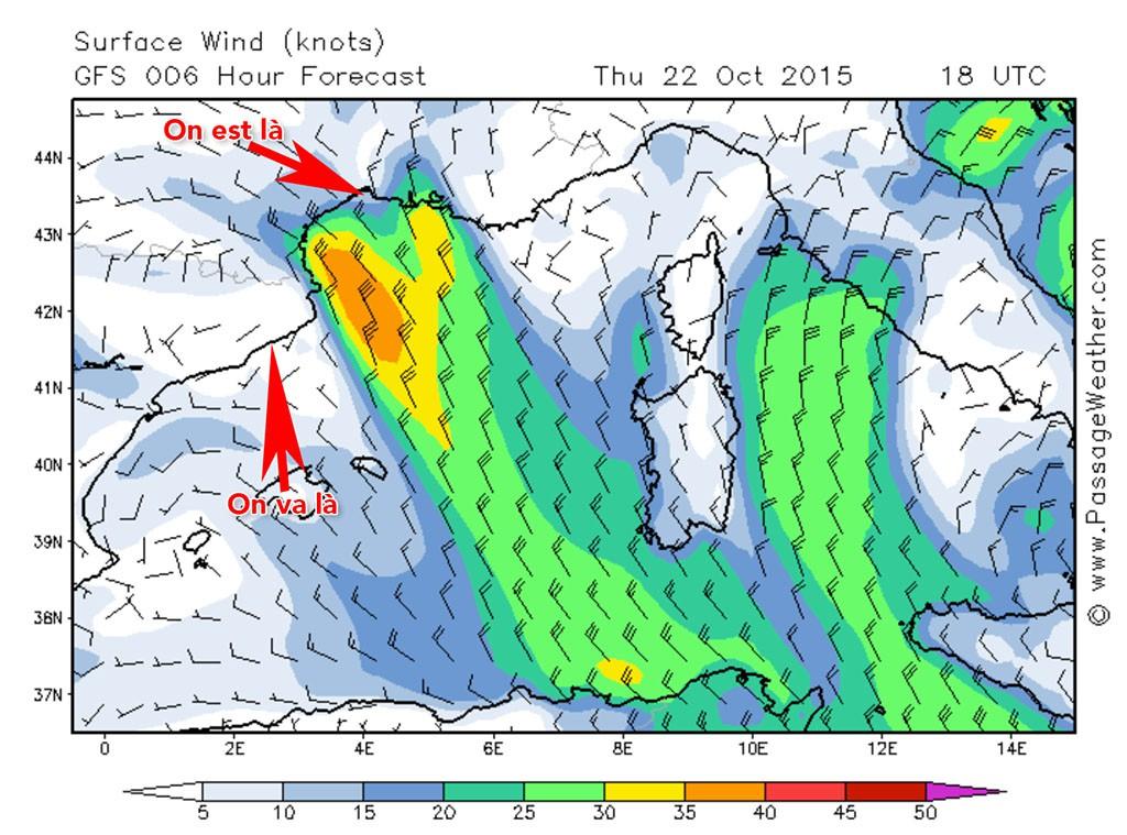 40 noeuds de vent annoncés au large cette nuit