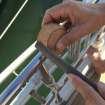 Ajustage de la pinoche avant mise en place