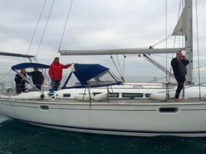 Fabrice, Pierre, Joel pour un dernier aurevoir en mer