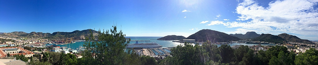 Panoramique sur le port