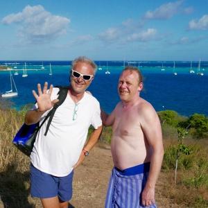 Avec Fabrice sur les hauteurs de Petit Bateau