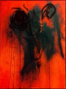 Peinture symbolisant la souffrance et la révolte des esclaves antillais.