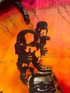 Détail d'une fresque du mémorial